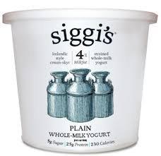 Siggis Skyr Icelandic 4% Plain Yogurt, 24 Ounce - 6 per case.
