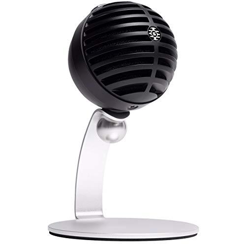 SHURE Micrófono MV5C para oficina en casa, micrófono de conferencia para Mac y PC, voz y llamadas nítidas, configuración rápida y sencilla, funciona con equipo, zoom y otros - Negro