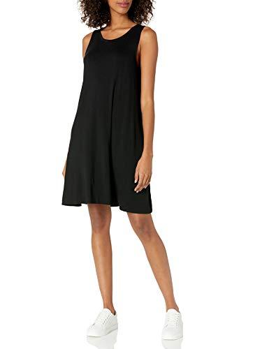 Amazon Essentials Tank-Swingkleid Damen, Black, L