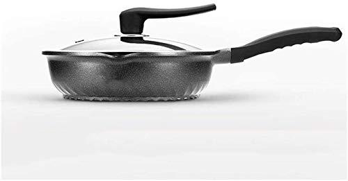 Hard Geanodiseerd Koekenpan Set Keramische Metalen Utens Keuken 30 32 Cm Multifunctionele Platte Bodem Antistick Pan RVS Met Deksel Wok Huishoudelijke Ongecoate Koekenpan Geschikt voor Inductie Cooker Gas