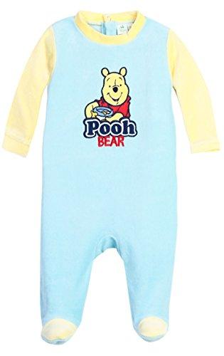 Pijama bebé niño Winnie the Pooh, color azul y beige de 3a 23meses azul/amarillo Talla:12 meses