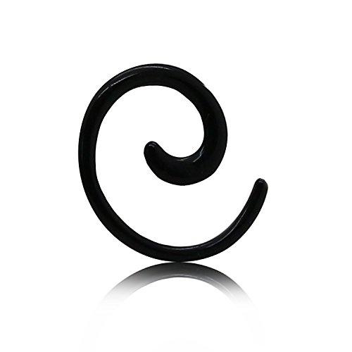3mm Dilitador espiral varilla de expansión expansor caracol spiral taper negro