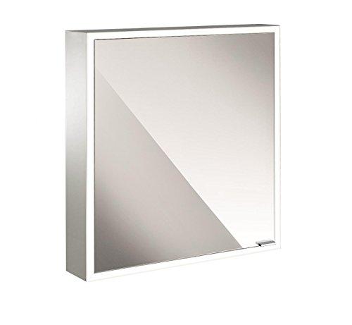 Emco asis LED-spiegelkast Prime AP 600 mm, 1-deurs links, achterwand spiegel