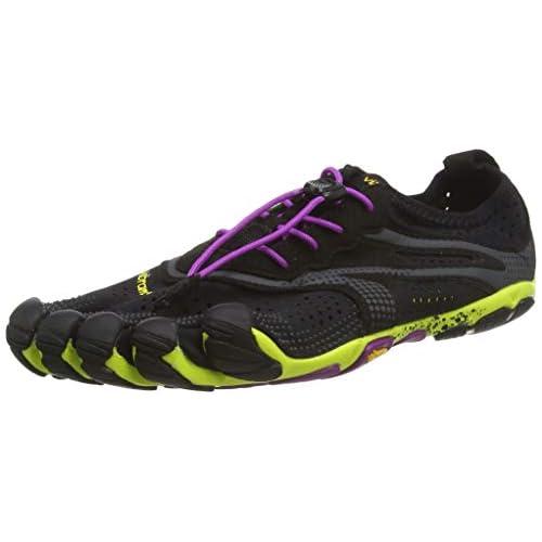 Vibram Five Fingers V-RUN, Scarpe da fitness all'aperto Donna, Multicolore (Black/Yellow/Purple), 36 EU