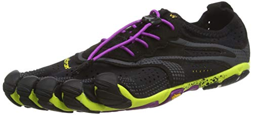 Vibram FiveFingers V-Run, Chaussures Multisport Outdoor Femme - Multicolore (Black / Yellow / Purple), 41 EU