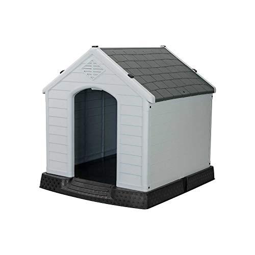 7H SEVEN HOUSE Caseta de Resina para Perros 7house | Caseta para Perros Pequeños | Dimensiones 66,5x73,6x69,5cm | Caseta de Plástico 100% Reciclable y Ecológico | Caseta Mascota Exterior e Interior