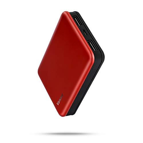 Vancely Batería Externa, Mini Power Bank 10000Mah Cargador Portátil con Gran Capacidad y Doble Salida USB (5V / 2.4A), para iPhone, iPad, Samsung Galaxy, Huawei Y Otros Smartphones y Tableta