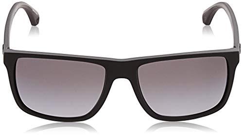 Armani sunglasses for men and women Emporio Armani Men's EA4033 Square Sunglasses, Black/Grey Rubber/Polarized