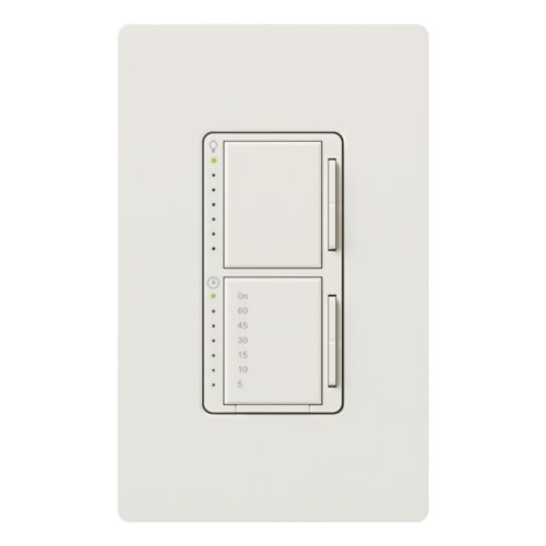 Lutron MA-L3T251-WH Maestro 300 Watt Single Pole Dimmer And Timer Switch, White