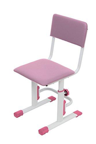 Höhenverstellbarer Kinderschreibtischstuhl weiß-rosa