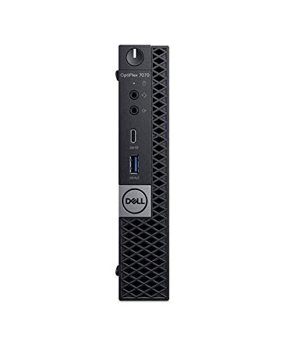 New Dell Optiplex 7070 Micro Factor Desktop Computer Intel Core i5-8600T up to 3.70 GHz, 16GB DDR4, M.2 256GB PCIe NVMe, Dual-b and 2x2 802.11ac WiFi with MU -MIMO + Bluetooth 5, Windows 10 Professional .