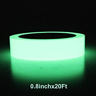 Balidao Glow in The Dark Tape - 20 feet Length x 0.8 Inch - Glow - in - The - Dark Luminous Photoluminescent Tape Sticker, Wall Stairs Steps Duct Fluorescent Tape for Home, Office