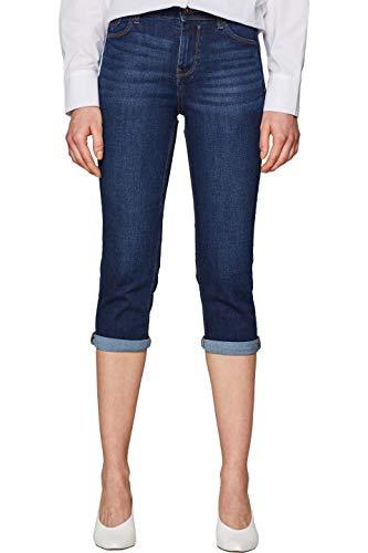 edc by ESPRIT Damen 039CC1B030 Straight Jeans, Blau (Blue Dark Wash 901), W28 (Herstellergröße: 28)