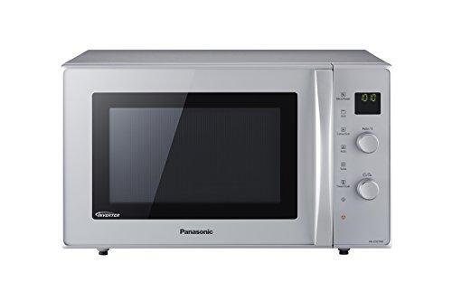 Panasonic NN-CD575 - Microondas Horno con Grill Combinado Slim (1000 W, 27 L, 6 niveles, Inverter, Grill 1300 W, 100-220ºC, 11 modos, plato giratorio 340 mm) Plata