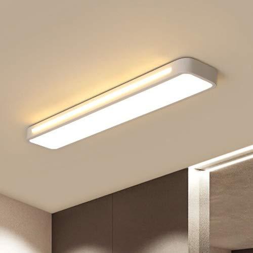 AXWT Blanc Longues lumières LED Fer forgé Lumière, Plafond La Nouvelle Acrylique Abat Décoration Aisle Plafond Lampe Suspension Lumières, Bande de Chevet Applique Paragraphe Ultra-Mince