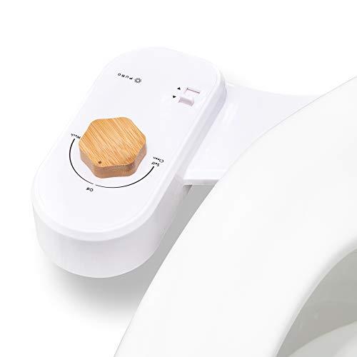 Puro Bidet Toilet Seat Attachment - Fresh Water Sprayer - 10 Min Install - Non-Electric - Adjustable Water Pressure - Feminine Wash and Rear Wash - Modern Toilet Bidet