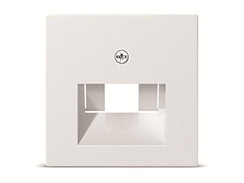 Gira 27003 Zentralplatte 50 x 50 mm für UAE/IAEST55 reinweiß-glänzend Anschlußdosen, 027003