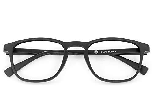 nowave BLUEBLOCK Occhiali Lettura +3.00 | Occhiali da presbite per PC, Tablet, Smartphone | +3.00 Nero