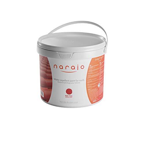 NARAJO® - Peinture Hydrofuge Colorée - Rouge Tuile - Imperméabilisant Prêt à l'Emploi pour Toitures - Application Simple - Produit en Phase Aqueuse de Qualité Professionnelle - 5 kg