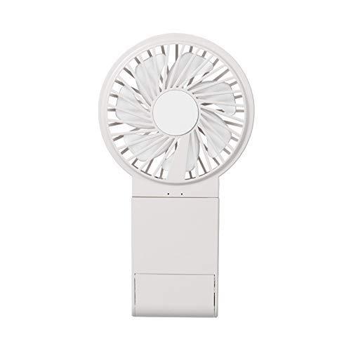 HYY-YY Pequeño ventilador portátil recargable USB portátil espejo de maquillaje soporte pequeño ventilador eléctrico