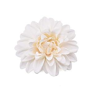 Artificial Flowers Artificial Silk Flowers Heads for Wedding Decoration White Rose Dahlia DIY Wreath Gift