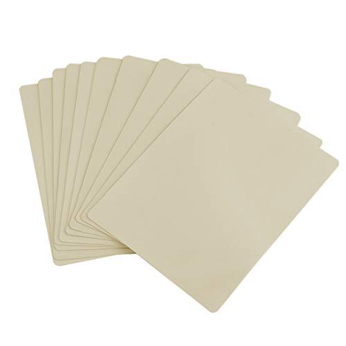 JJOnlinestore-10x blanco Plain tatuaje práctica piel falsos hojas doble cara práctica aprendizaje principiante