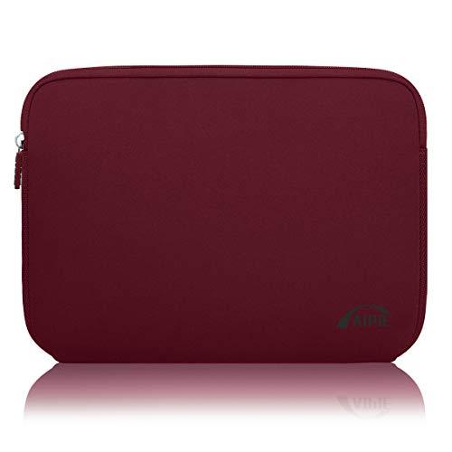 AIPIE Funda Portátil 15 15,6 Pulgadas Netbooks Caso Anti-rasguños Antigolpes Funda per Laptop Compatible MacBook, Acer, ASUS, DELL, HP, Lenovo Ordenadores Maletín de Bolsa (Burdeos)
