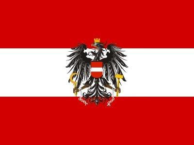 Michael & Rene Pflüger Barmstedt - Premium Aufkleber - Postkartenformat - Fahne/Flagge von Österreich Sticker Auto Motorrad Autoaufkleber