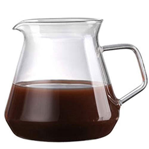 Résistant à la Chaleur Pot Goutte à Goutte en Verre à la Main Café Café Serveur Bouilloire Cafetière Teapot (450ml) (650ml)