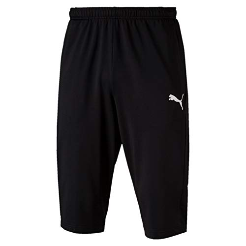 PUMA Erwachsene Hose Liga Training 3/4 Pants, Puma Black-Puma White, M, 655315 03