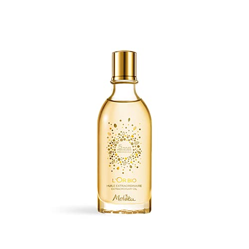 Melvita Huile Extraordinaire l'Or Bio Soin pour Visage/Corps/Cheveux Vegan Flacon, 50 ml, 1 Unité
