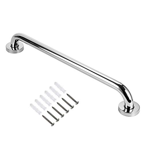 Sumnacon 20 Inch Stainless Steel Bath Grab Bar - Sturdy Safety Handle with Screws, Wall Mounted Balance Handrail Assit for Bathtub Shower Toilet Stairway, Polished
