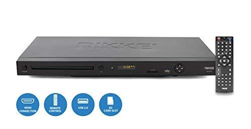 Nikkei ND220H - DVD Spieler/DVD Player/cd Player | HDMI | 1080P upscaling | SCART | USB Anschluss und SD Kartenleser - Schwarz