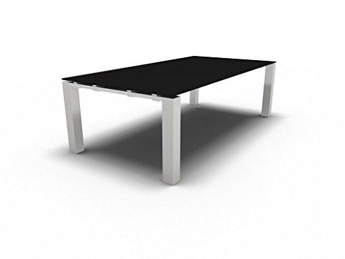 Besprechungstisch mit Glasplatte JET EVO für 8 Personen, Konferenztisch, Meetingtisch in verschiedenen Dekoren, Konferenzmöbel