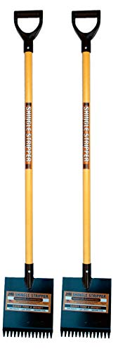 Shingle Stripper Fiberglass (2 Pack) by MBI Tools - Roof Tear Off Shingle and Nail Removal Tool