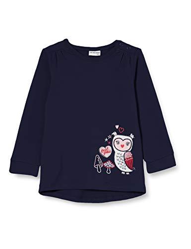 Salt & Pepper Baby-Mädchen 05211200 Sweatshirt, Navy, 80