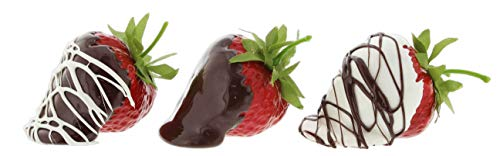Just Dough It 2.5' Assorted Chocolate Covered Strawberries Set of 3 Replica Prop