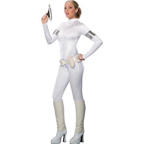 Disfraz de Padme Amidala de Star Wars para mujer, mono blanco, talla XS