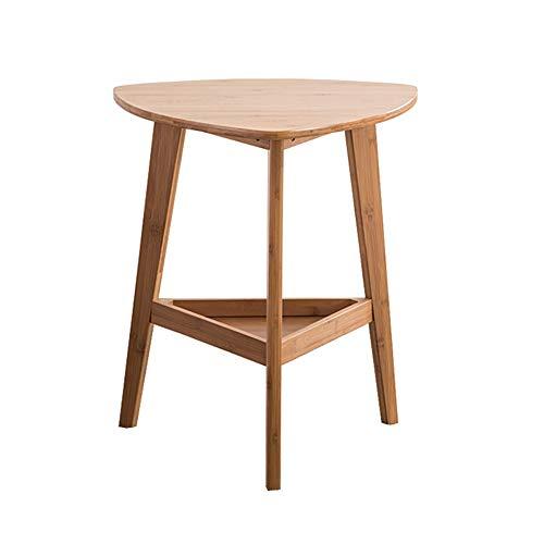 ZHAOYONGLI Tavoli, Tavolini finali, Tavolino a 2 ripiani Triangolo in Bambù Tavolino da salotto in Legno (Colore: Bambù, Dimensioni: 48 cm x 45 cm x 57 cm)