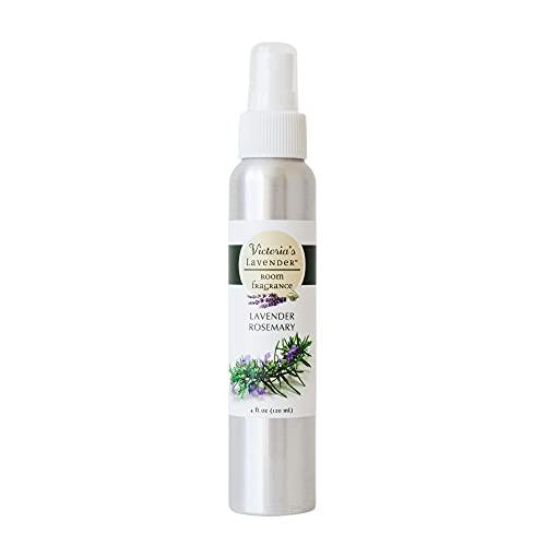 Victoria's Lavender Room Spray All-Natural Home Fragrance 100% Pure Essential Oil Air Freshener Odor Eliminator (Lavender Rosemary)
