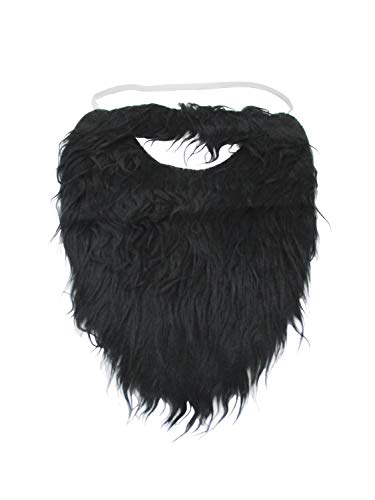 Jacobson Hat Company Fake Beard and Mustache Halloween Costume Accessory-Black-8'