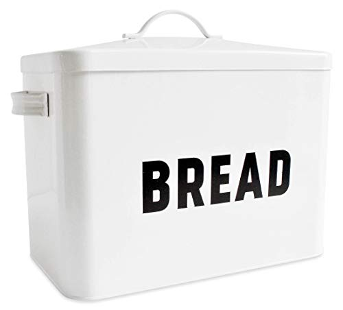Metal Bread Box - Countertop Space-Saving, Extra Large, High Capacity Bread Storage Bin for your...