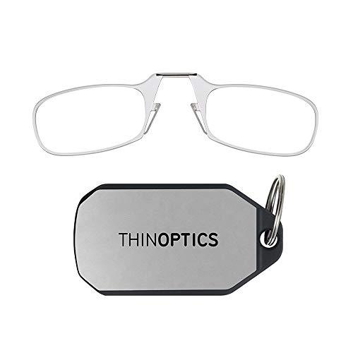 ThinOptics Gli occhiali da lettura con il portachiavi, La graduazione di 2.00 resistenza, montatura trasparente