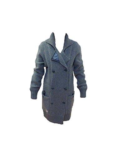 SOCCX Damen Jacke Cape Horn III SX Long Knit Cardigan Grey Melange Gr M/38