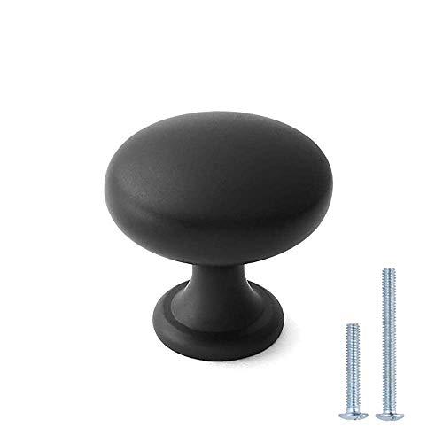 10 Stück Metall Küchenknöpfe Haunen Möbelknöpfe Schwarz Modern Türknopf Kabinett-Hardware-Knöpfe knober Möbelknopf für Schlafzimmer, Badezimmer