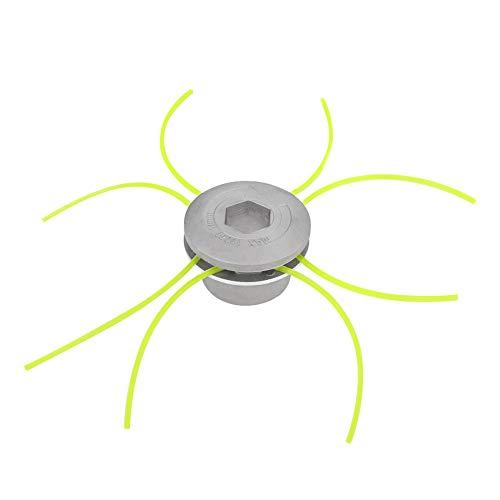 gulinkaituozhe Universal-Trimmerkopf Zubehör für Rasenmäher aus Aluminium für Benzin Gras Freischneider