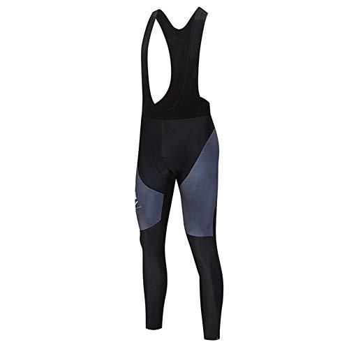 HFJLL Traje de Ciclismo para Hombre Ropa Deportiva de Manga Larga Conjunto de Ropa de Ciclismo de Secado rápido y Transpirable con Jersey de Lycra Doble + Pantalones Acolchados 9D,Pants-2,2XL
