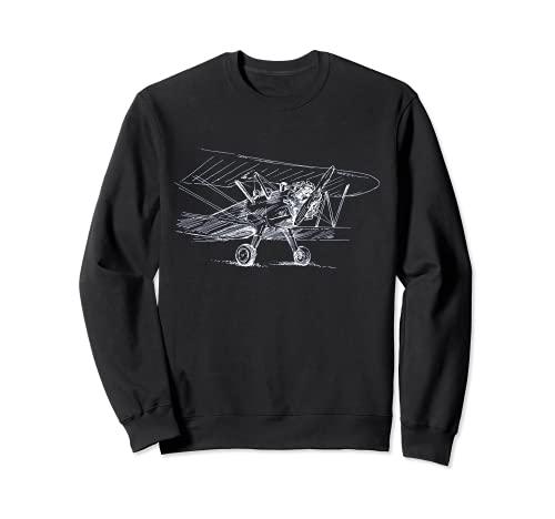 Avión Vintage - Avión Retro - Aeropuerto - Piloto - Aviador Sudadera