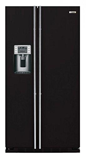 IO MABE ORE 24 CGF 8B - Amerikanischer Kühlschrank / Kühlschrank side by side / Kühlschrank in Schwarz Pulverbeschichtet - Freistehender Kühlschrank - Energieklasse A+ - 2 Jahre Garantie
