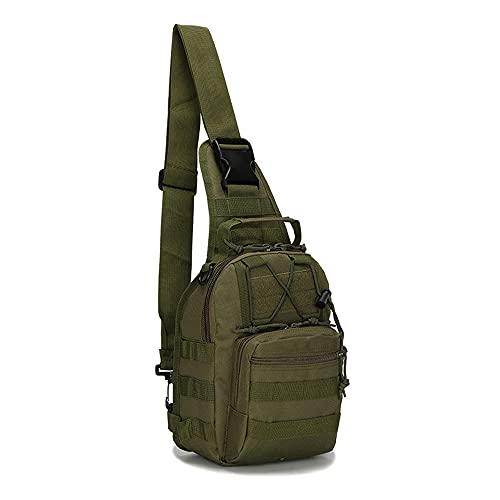 JJBKT Senderismo mochila deportes montañismo bolsa de hombro táctica camping caza mochila pesca al aire libre, Hombre, 3076431223, verde, 20 (largo)